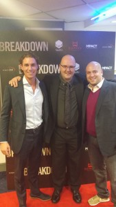 Premier of Breakdown with Phil Mountford between producer Luke Fairbrass and writer/director Jonnie Malachi